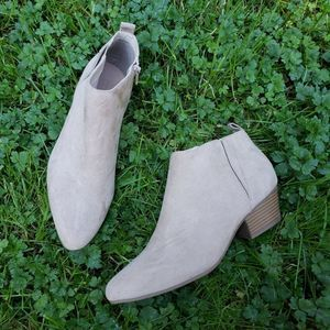 Old Navy Zippered Short Booties Faux Suede Size 9